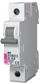 Автоматичний вимикач ETI Etiman 6, 1р, 0,5А, C