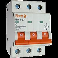 Автоматичний вимикач Electro ВА1-63, 3р, 4А, C