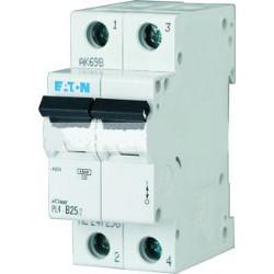 Автоматичний вимикач EATON PL4-C6/2, 2р, 6А, C