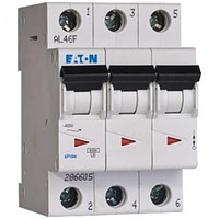 Автоматичний вимикач EATON PL4-C63/3, 3р, 63А, C