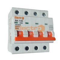 Автоматичний вимикач Electro ВА1-63, 4р, 63А, C