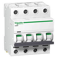 Автоматичний вимикач SE Acti 9, 4р, 10А, C