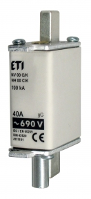 Запобіжник з індикатором NH-00/K gG KOMBI 125A 690V, ETI